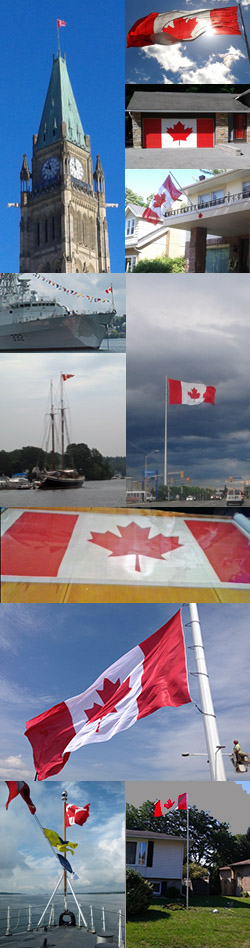Real Canadian Flags Collage